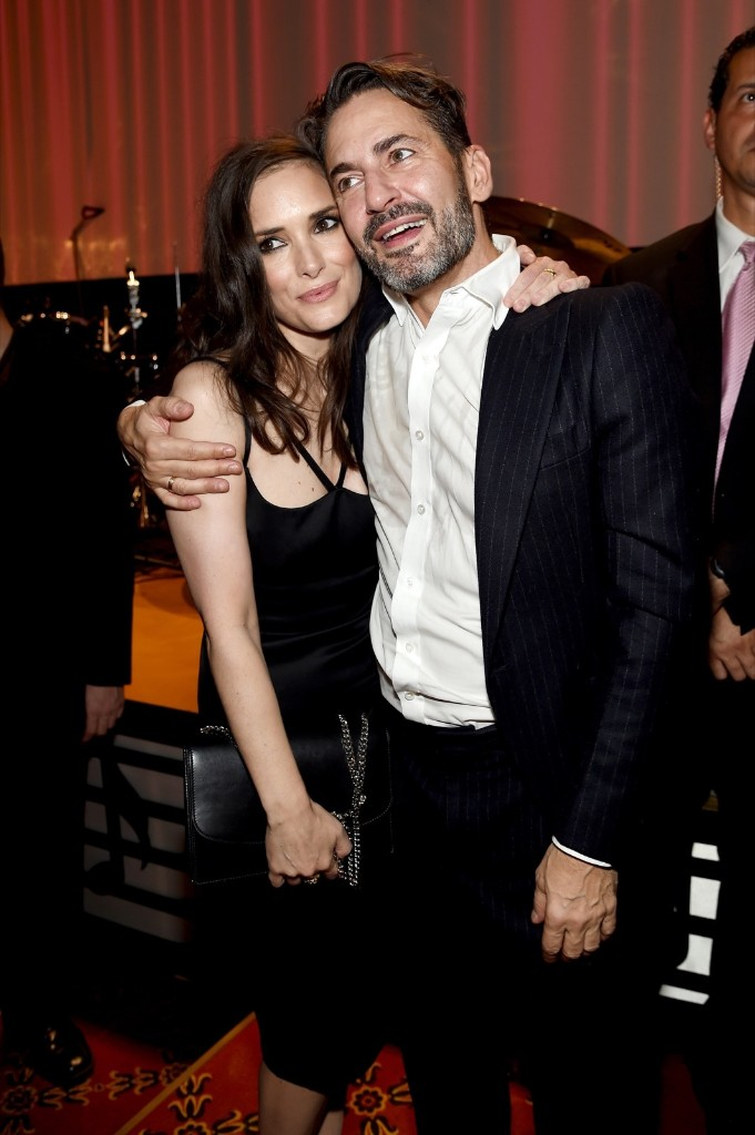 Winona Ryder and Marc Jacobs attend the Marc Jacobs Spring 2016 fashion show. Jamie McCarthy/Getty Images for Marc Jacobs