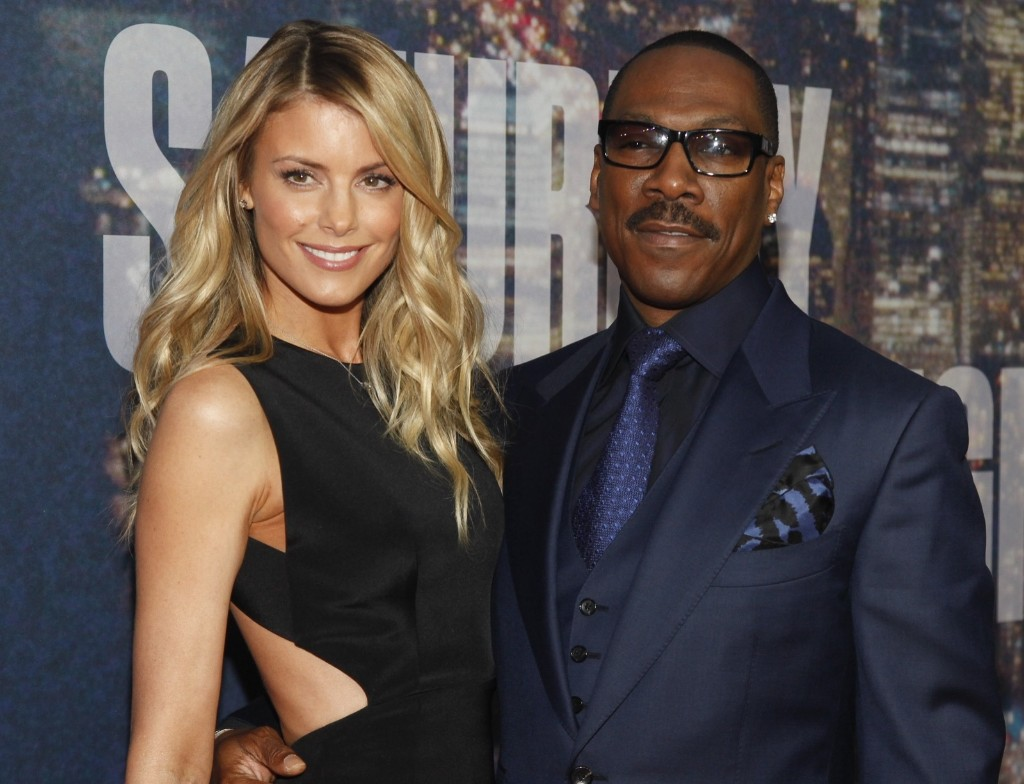 Paige Butcher and Eddie Murphy attend the SNL 40th Anniversary Special, Sunday, in New York. Andy Kropa/Invision/AP