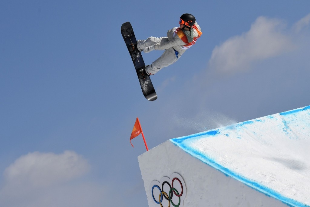 Red Gerard winning men's snowboard slopestyle at Phoenix Park. LOIC VENANCE/AFP/Getty Images