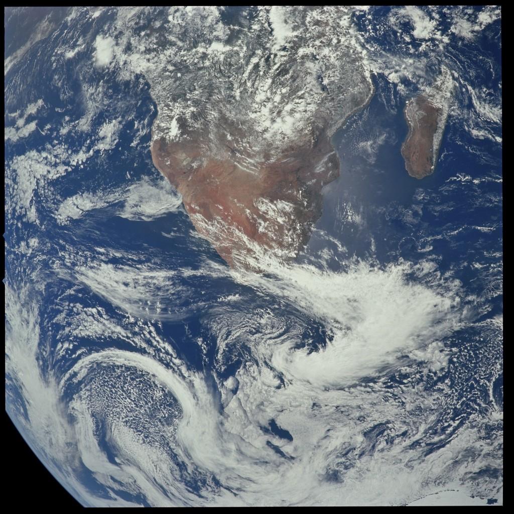 Apollo 17 Hasselblad image from film magazine 148/NN - Earth, LM Inspection, Orbital. NASA Photo
