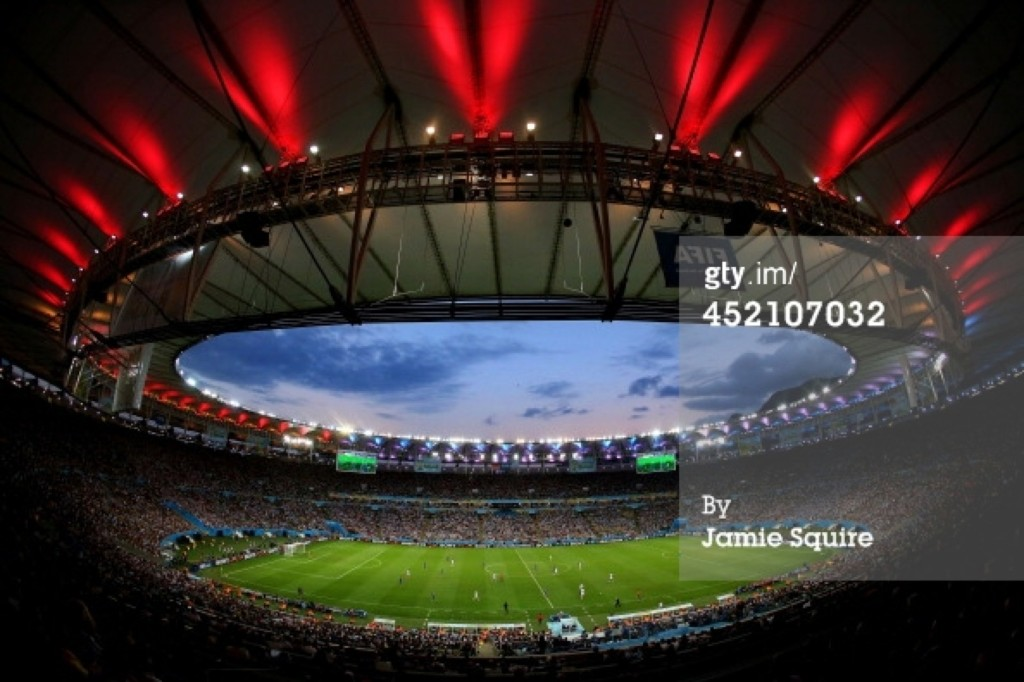 The Maracana during the World Cup final in Rio. Jamie Squire/Getty Images