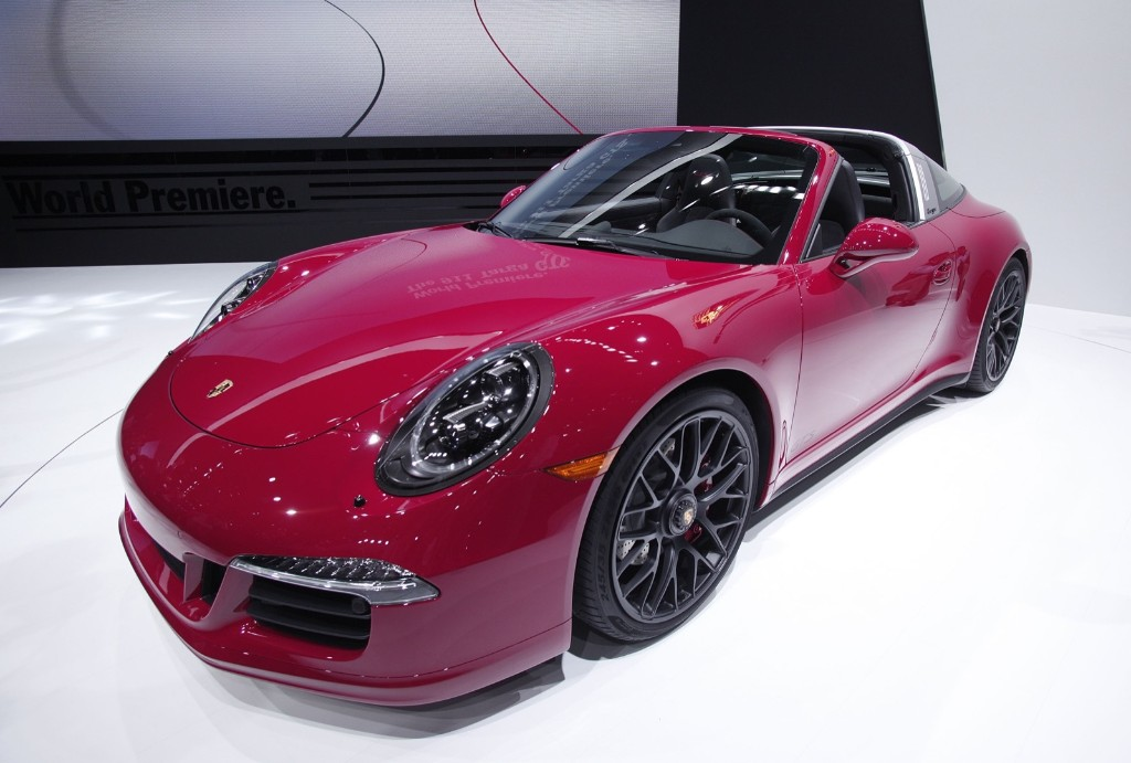 The Porsche 911 Targa GTS is revealed at the 2015 North American International Auto Show in Detroit, Monday. Bill Pugliano/Getty Images