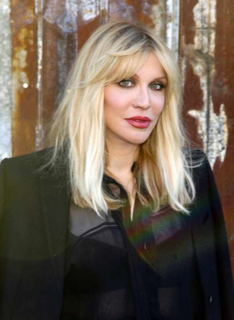 Courtney Love attends the New York Fashion Week Spring/Summer 2016 Givenchy fashion show. Andy Kropa/Invision/AP