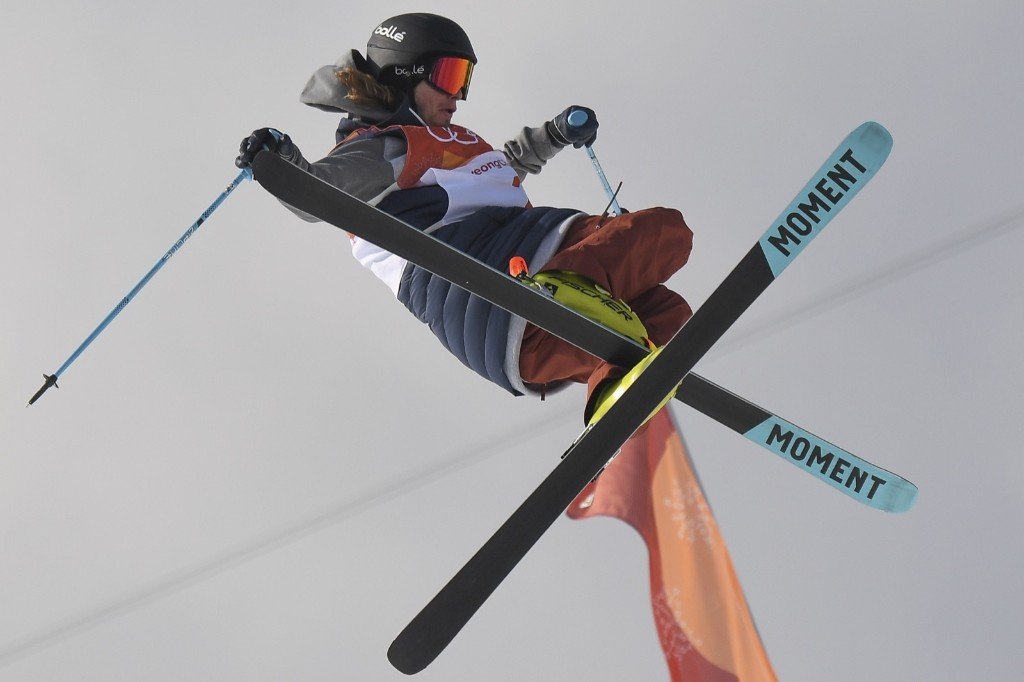 David Wise of the U.S. taking gold in men's ski halfpipe final. LOIC VENANCE/AFP/Getty Images