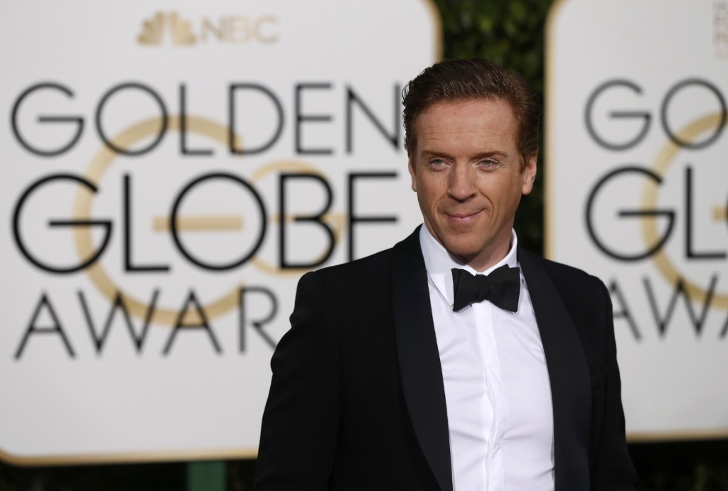 Damien Lewis arrives at the 73rd Golden Globe Awards. REUTERS/Mario Anzuoni