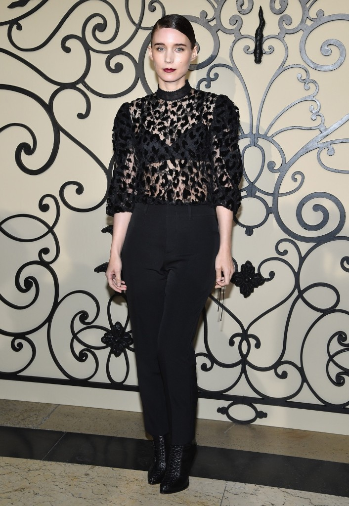 Rooney Mara attends the Givenchy show. Pascal Le Segretain/Getty Images