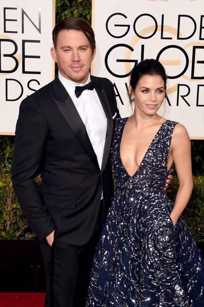 Channing Tatum and Jenna Dewan Tatum attend the 73rd Annual Golden Globe Awards. Jason Merritt/Getty Images