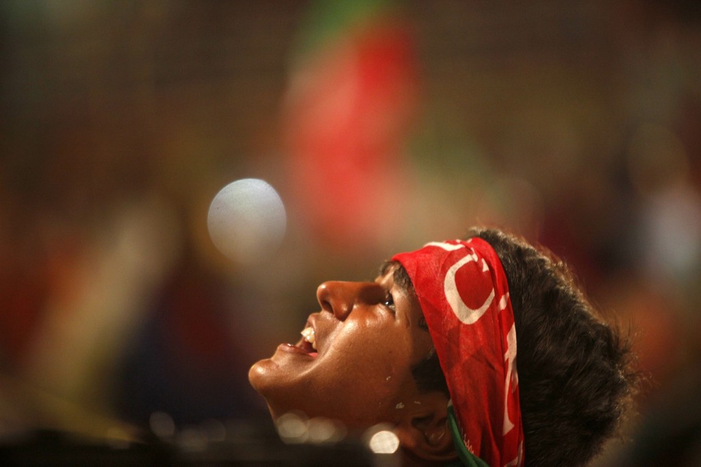 A supporter of Imran Khan during a freedom march in Islamabad. REUTERS/Akhtar Soomro