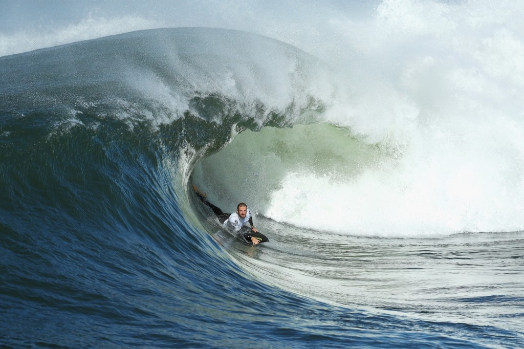 Mitch Rawlins of Queensland rides a wave. Cameron Spencer/Getty Images