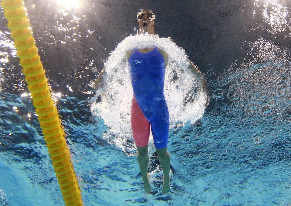 Mireia Belmonte of Spain in the women's 200m butterfly. REUTERS/Stefan Wermuth