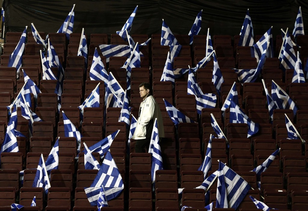 A campaign rally before the election in Athens. REUTERS/Alkis Konstantinidis