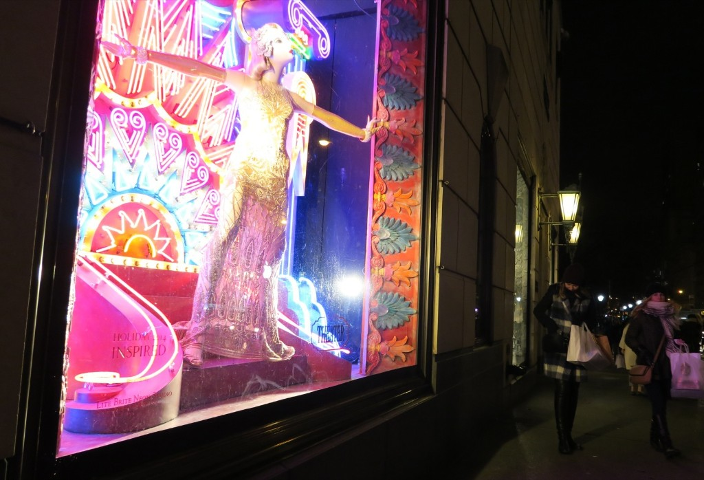 "Bergdorf Goodman selected a one-word holiday theme for 2014: Inspired. ""It was all we needed to launch a set of windows celebrating the arts."" Photo by Gary Hershorn"