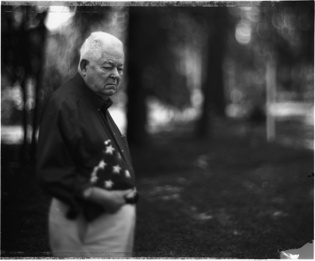 Elbert Legg, sergeant with the 603rd Quartermaster Graves Registration Company, in North Carolina, 2004. David Burnett/Contact Press Images