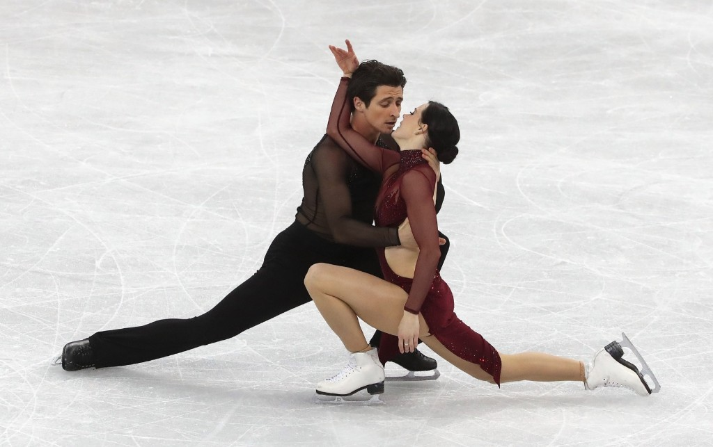 Tessa Virtue and Scott Moir of Canada winning gold in ice dance. They went gold in Vancouver, silver in Sochi and grabbed a gold in the team event in PyeongChang last week. Steve Russell/Toronto Star via Getty Images