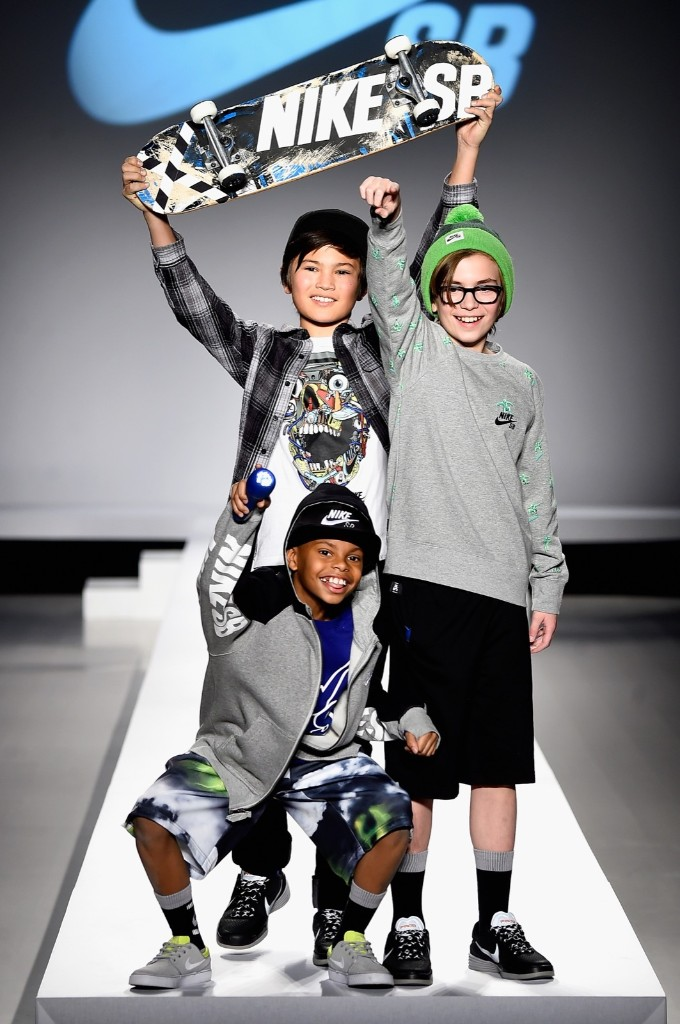 Models walk the runway at the Nike Levi's Kids fashion show during Fall Fashion Week 2015, Thursday, in New York. Frazer Harrison/Getty Images