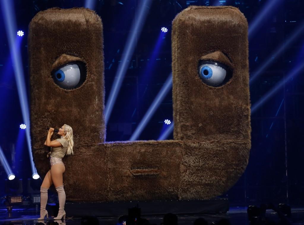 Bebe Rexha performs during the MTV European Music Awards in Rotterdam. AP Photo/Peter Dejong