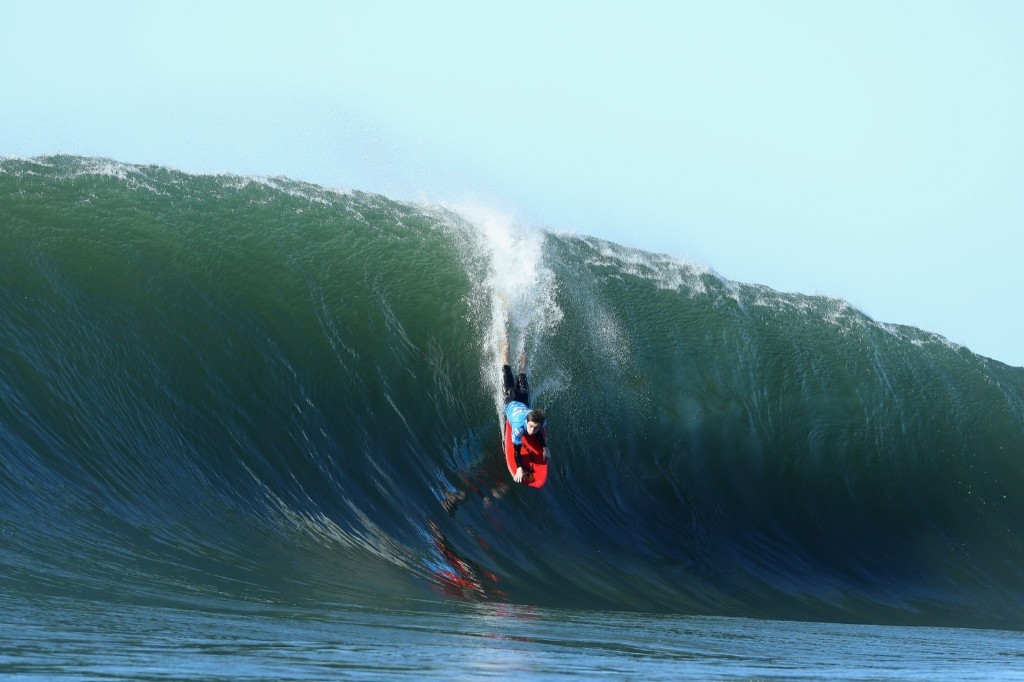 Reece Fowler of New South Wales drops into a wave. Cameron Spencer/Getty Images