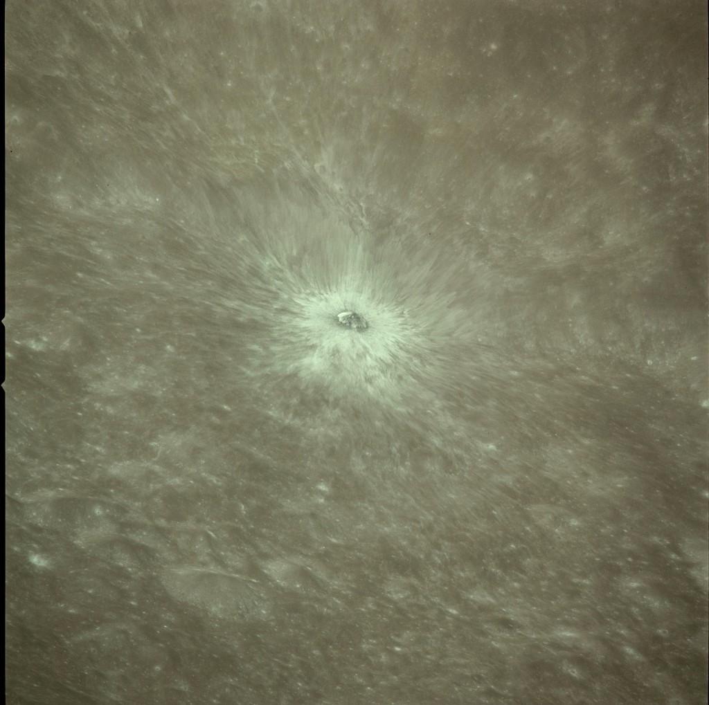 Apollo 17 Hasselblad image from film magazine 151/OO - Lunar orbit. NASA Photo