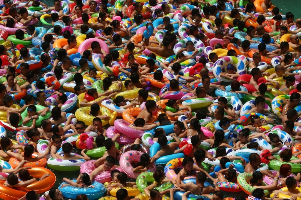 Cooling off in a waterpark in Suining, southwest China's Sichuan province. STR/AFP/Getty Images