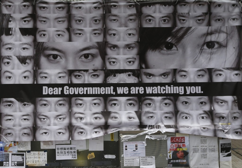 An installation at a protest site during the Occupy Central civil disobedience movement in Hong Kong. REUTERS/Bobby Yip