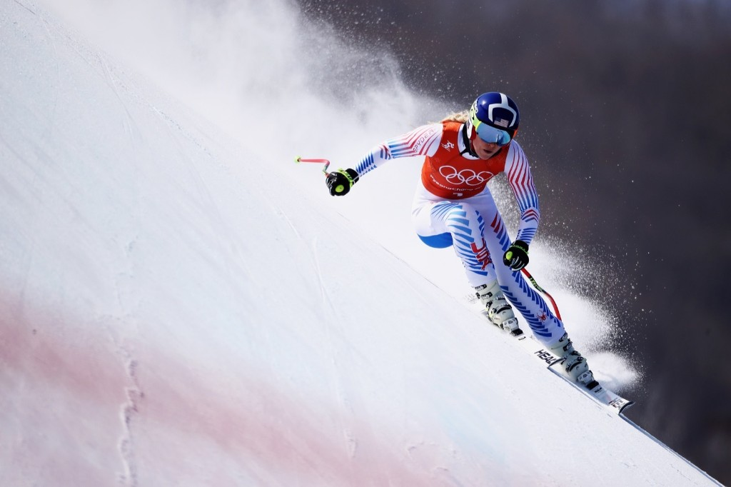 Lindsey Vonn during women's downhill training on day 11. Ezra Shaw/Getty Images