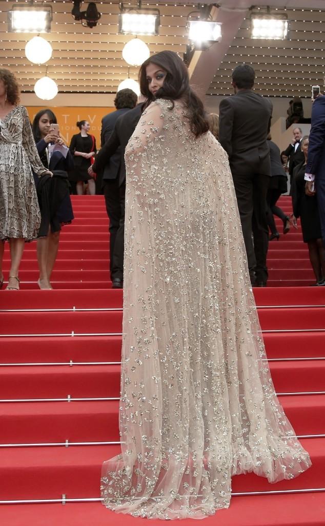 Aishwarya Rai Bachchan at Cannes. AP Photo/Thibault Camus