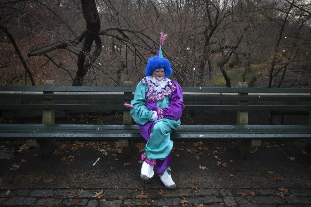 Waiting for a parade in Central Park. REUTERS/Carlo Allegri