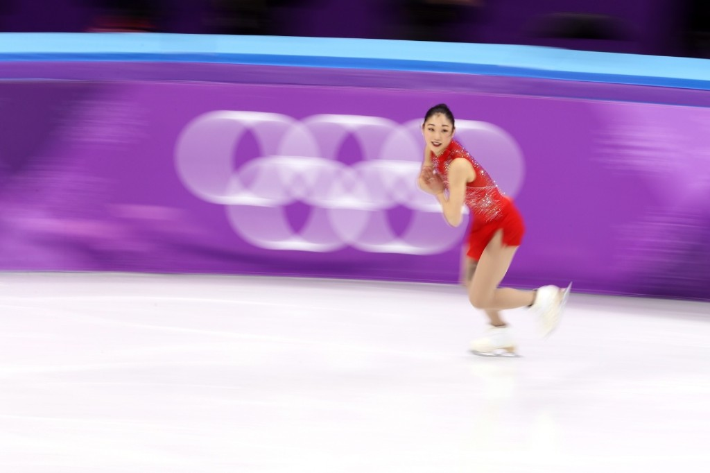 Mirai Nagasu of the U.S. during the women's free skate. Jamie Squire/Getty Images