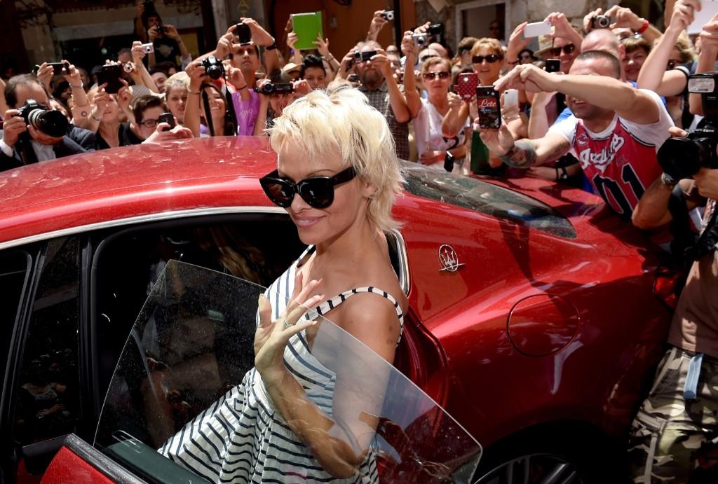 Pamela Anderson at the 60th Taormina Film Festival. Tullio M. Puglia/Getty Images for Maserati