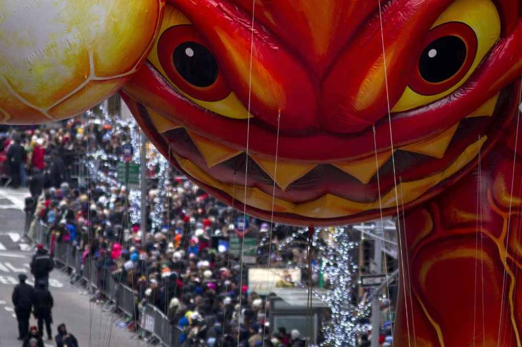 A float makes its way down 6th Ave. REUTERS/Carlo Allegri