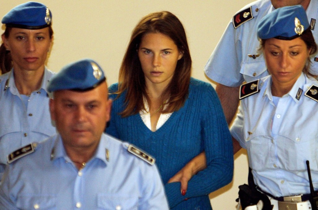 Amanda Knox at a court hearing in Perugia on Sept. 26, 2008. Federico Zirilli/AFP/Getty Images