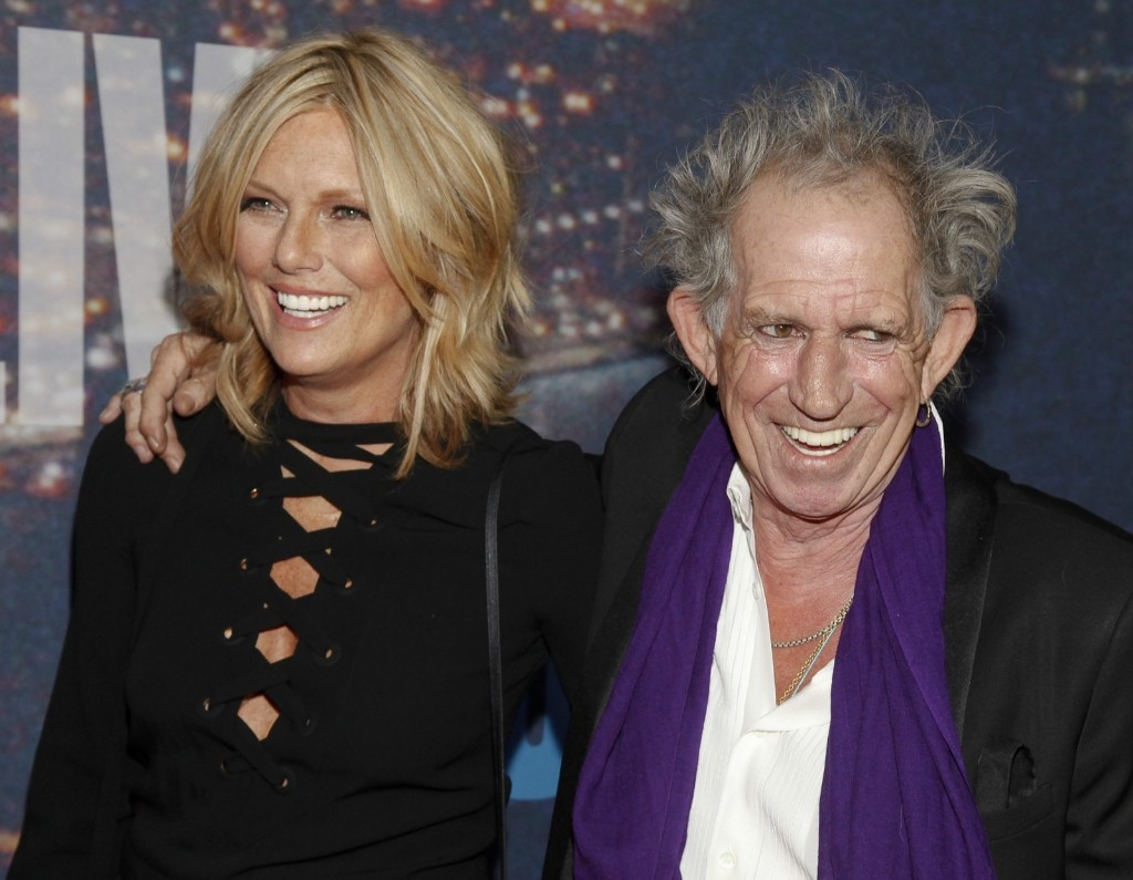 Patti Hansen and Keith Richards attend the SNL 40th Anniversary Special, Sunday, in New York. Andy Kropa/Invision/AP