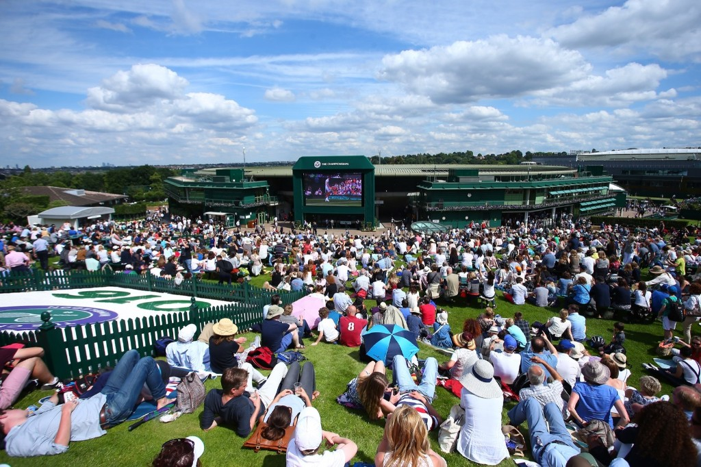 The top of Murray Mound on day 1 of the Wimbledon Lawn Tennis Championships at the All England Lawn Tennis and Croquet Club. Jordan Mansfield/Getty Images