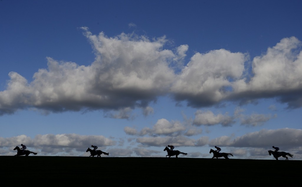 Angus Cheleda riding On Demand leading all the way to win The Banz On Amazon Mares' Handicap Hurdle Race at Wincanton Racecourse in Wincanton, England. Alan Crowhurst/Getty Images