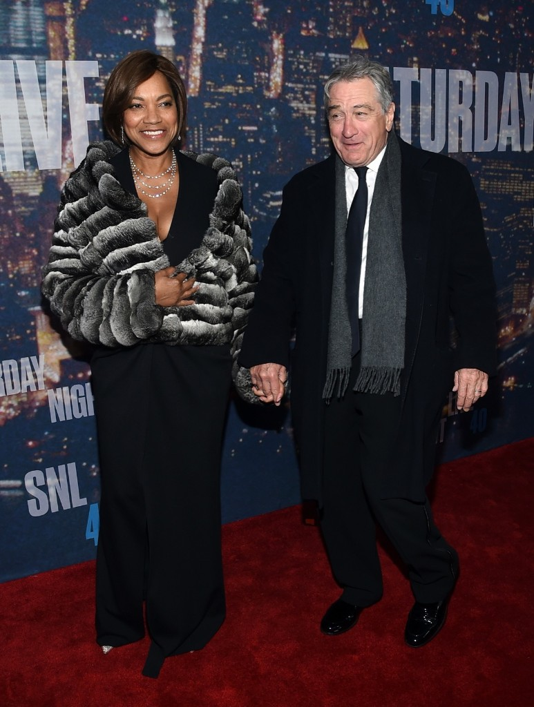 Grace Hightower and Robert De Niro attend the SNL 40th Anniversary Special, Sunday, in New York. Larry Busacca/Getty Images