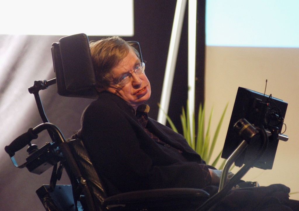 Stephen Hawking in 2004. Getty Images