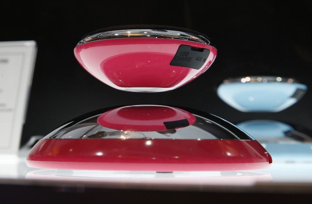 The Axxess CE Air2 bluetooth speaker that levitates over its base. AP Photo/John Locher