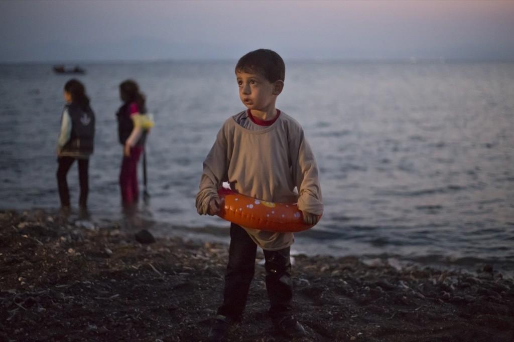 A Syrian migrant on the Greek island of Kos. AP Photo/Alexander Zemlianichenko
