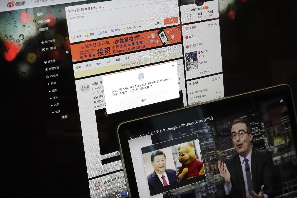 China blocks John Oliver on social media after scathing show