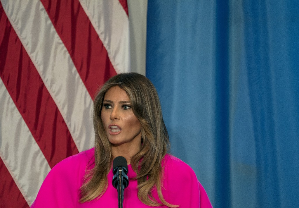 """First lady Melania Trump """"hates"""" to see families separated"""
