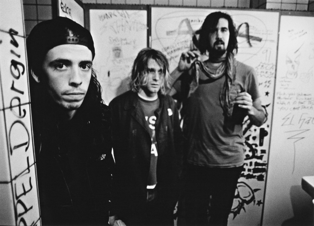 Nirvana backstage in Frankfurt, 1991. Paul Bergen/Redferns/Getty Images