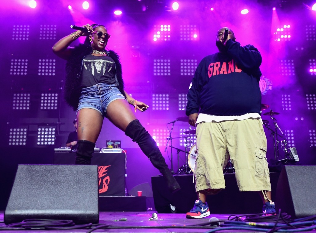 Gangsta Boo and Killer Mike of Run the Jewels during day 2. Jason Kempin/Getty Images