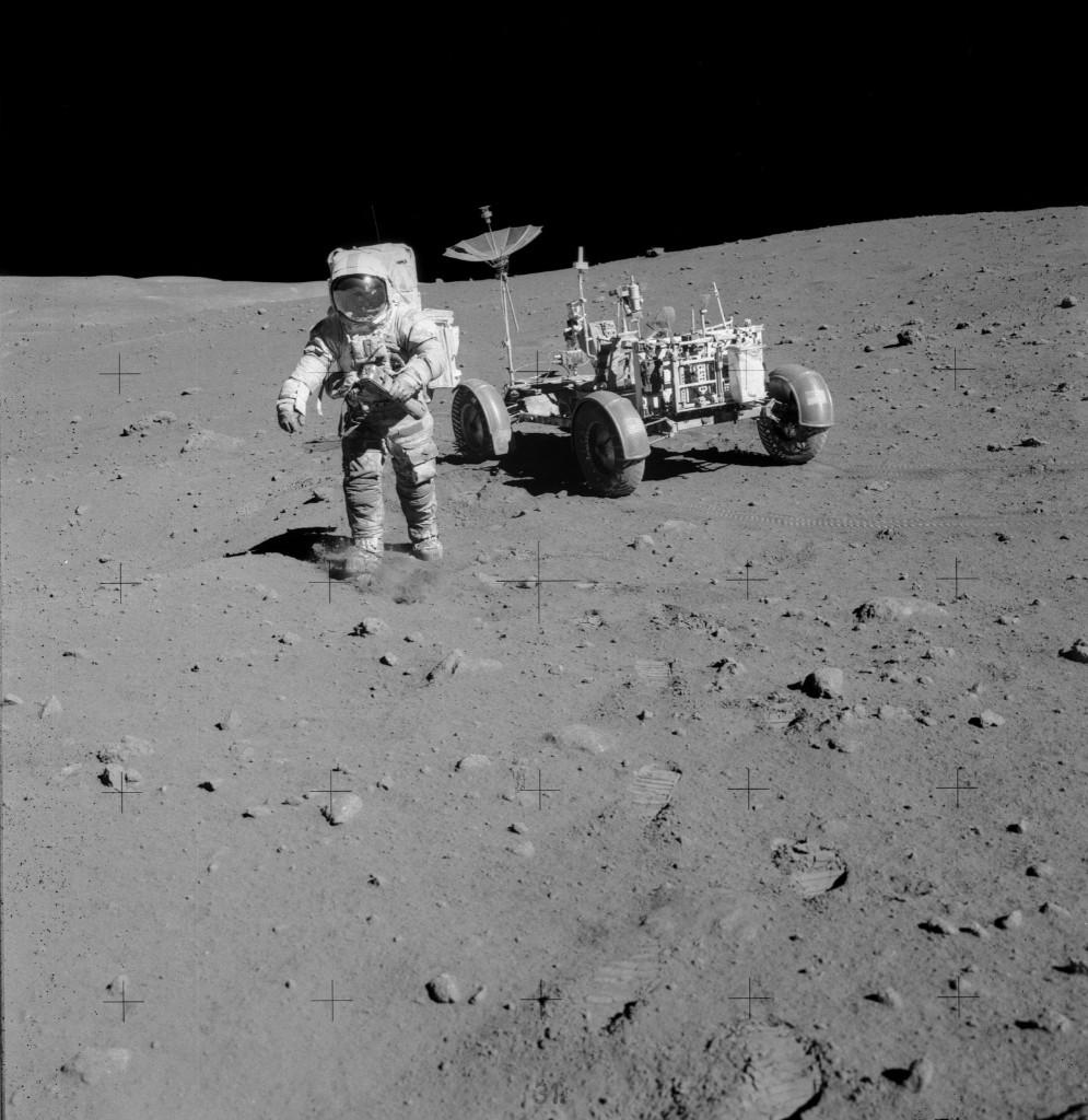 Apollo 15 Hasselblad image from film magazine 82/SS - EVA-3. NASA Photo