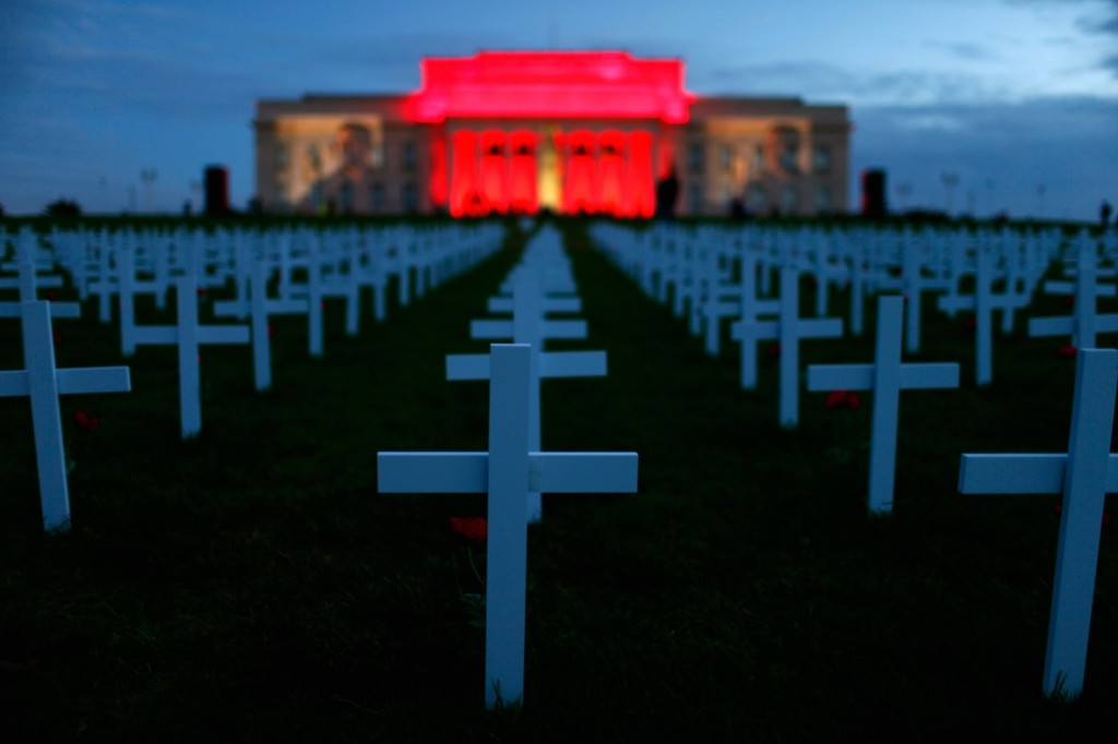 The Auckland War Memorial Museum's light show highlighting the 100-year anniversary of the Gallipoli landing. Phil Walter/Getty Images