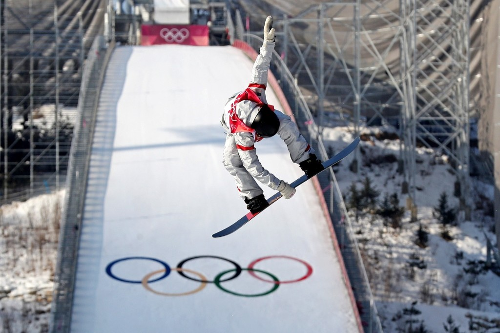 Jessika Jenson of the U.S. during women's snowboarding big air final. Eric Seals-USA TODAY Sports