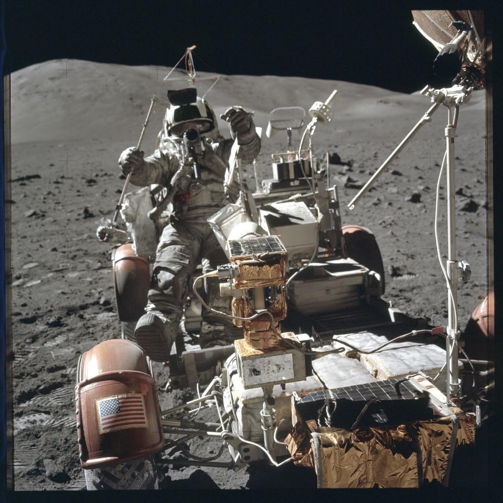 Apollo 17 Hasselblad image from film magazine 134/B - EVA-1 & 3. NASA Photo