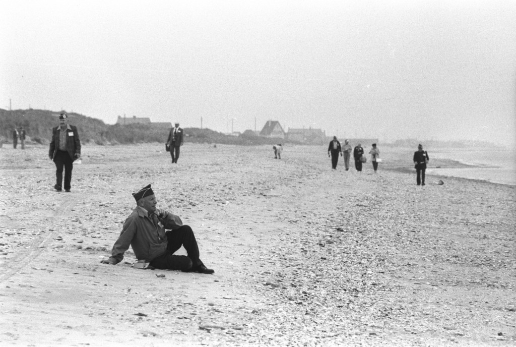 Members of the 90th division on Utah Beach, 1979, during the 35th anniversary. David Burnett/Contact Press Images