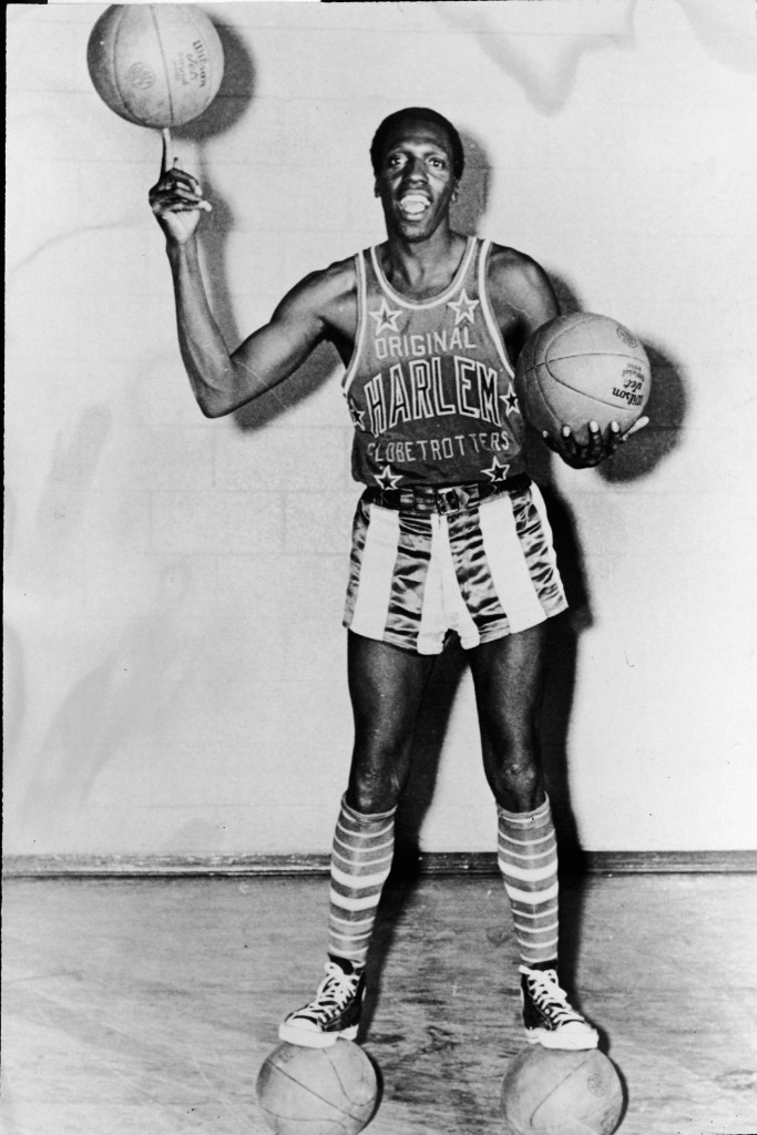 Meadowlark Lemon of the Harlem Globetrotters, 1968. Express Newspapers/Getty Images