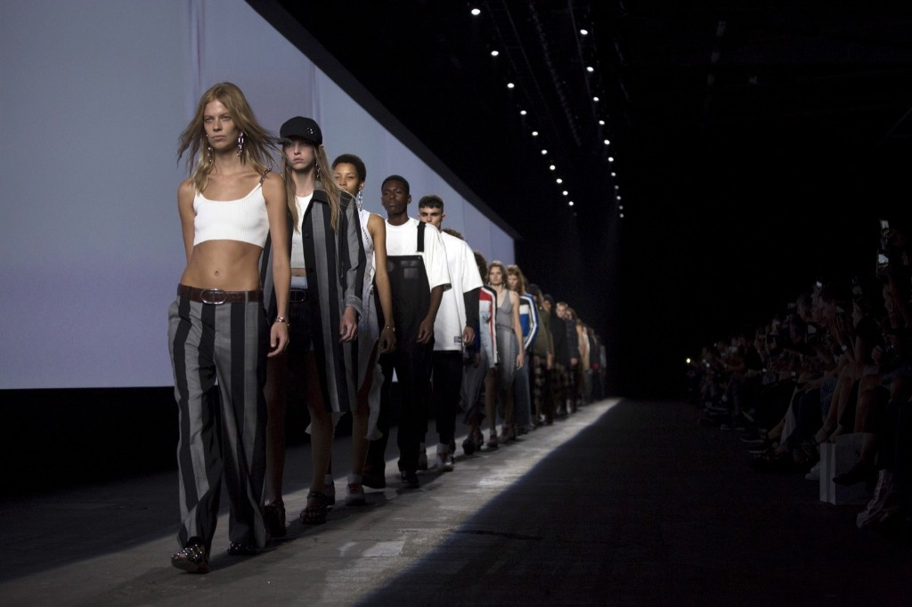Models present creations from the Alexander Wang Spring/Summer 2016 collection. REUTERS/John Taggart