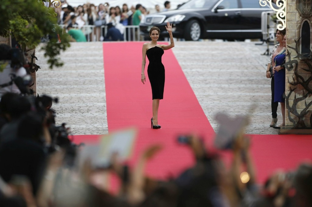 """Angelina Jolie at the premiere of """"Maleficent"""" in Toyko. REUTERS/Yuya Shino"""